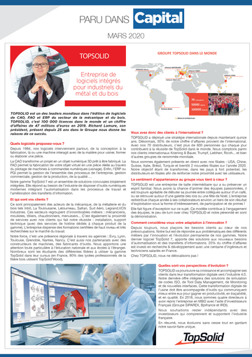 Interview - Richard LAMURE, PDG TOPSOLID SAS - Magazine CAPITAL